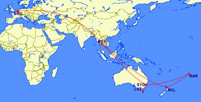 Turen til Oceanien