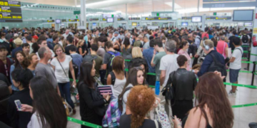 Kaos ved security i lufthavnen ved Barcelona