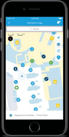 Schiphol Airport Map i KLM app