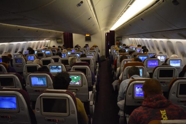 Bagerste kabine i en Thai Boeing 777