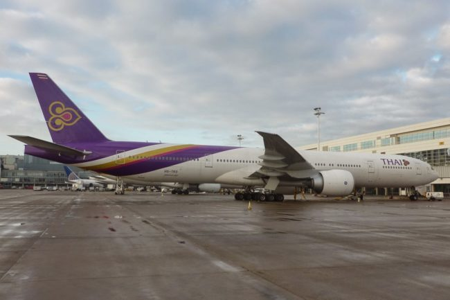 Thai Boeing 777 i Brussels