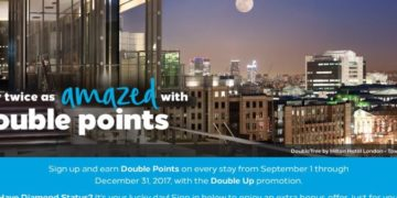 Hilton Honors dobbelte point kampagne