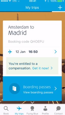 Voucher I KLM app