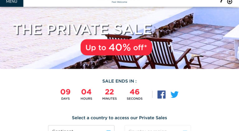 Le Club Accor Private Sale
