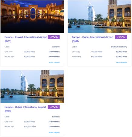 Flying Blue promo awards - maj 2018 - Mellemøsten