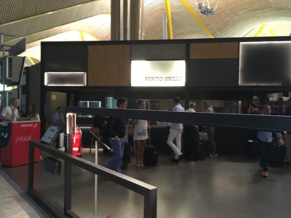 Midlertig Iberia Dali VIP lounge Madrid