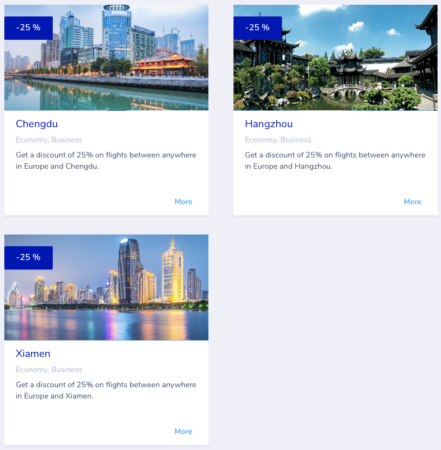 Flying Blue promo awards - september 2018 - Asien