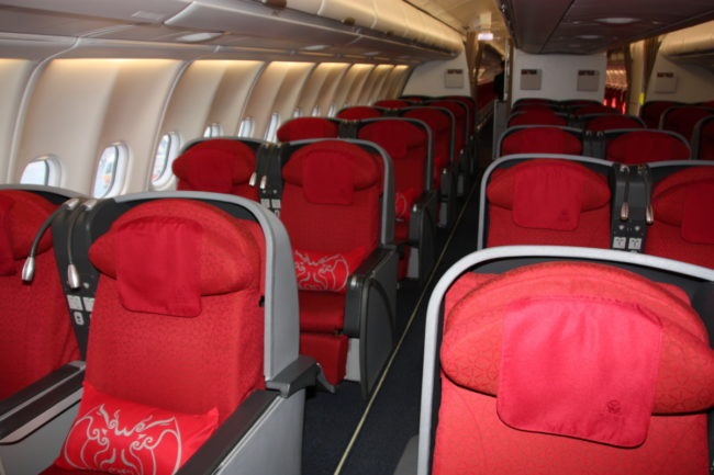 Sichuan Airlines Business Class.