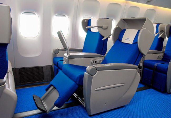 KLM gammel business class