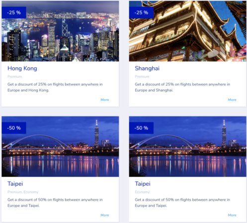 Flying Blue promo awards - februar 2019 - Asien