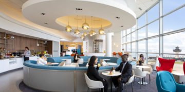Air France lounge Washington Dulles