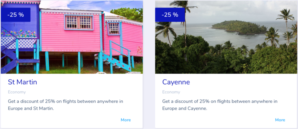 Flying Blue promo awards - september 2019 - Caribien