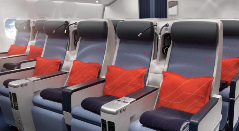 Boeing 777 Carribean premium economy class