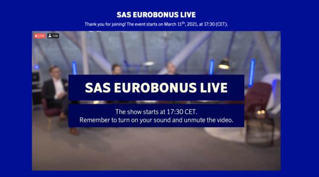 SAS EuroBonus Live