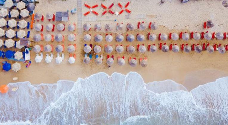 Strand - Luftfoto